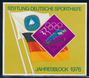 Germany - Innsbruck Olympic Games MNH Label Souvenir Sheet (1976)