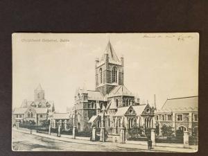 1906 Dublin Ireland to Oakland California Christchurch Cathedral RPPC Cover