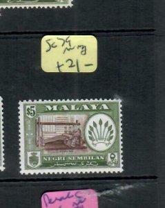 MALAYA  NEGRI SEMBILAN  (P1606B)  SG  79    MOG