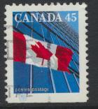 Canada SG 1358d Used perf 13 x 13½ Skyscrapper and flag  see details