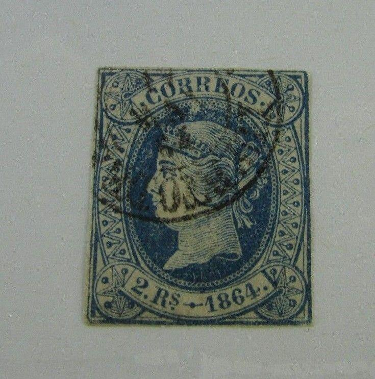 1864 Correos SC 66 Spain Used Stamp HipStamp