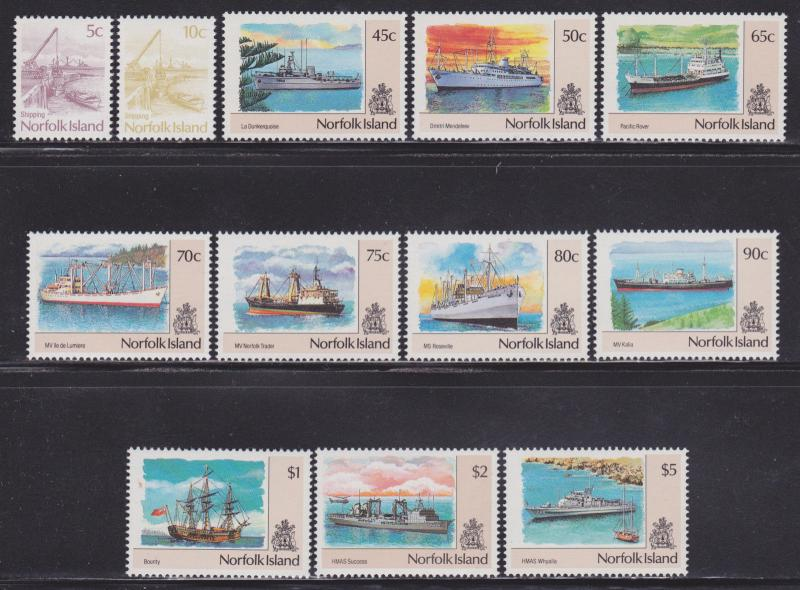 Norfolk Is 479-490 VF never hinged set nice colors scv $ 20 ! see pic !