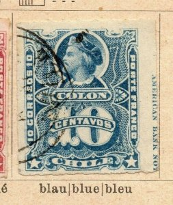 Chile 1877-78 Early Issue Fine Used 10c. NW-09253