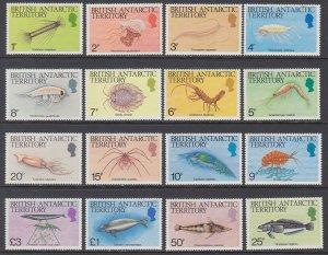 British Indian Ocean Territory 102-116 Marine Life MNH VF