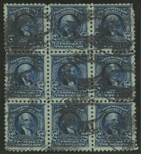 #479 $2 1917 USED BLOCK/9 VF-XF TOP RIGHT W/ PERF FLAW CV $695 HW4495