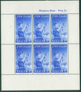 New Zealand Scott B55a Boys Brigade sheet MNH** 1958 CV$4