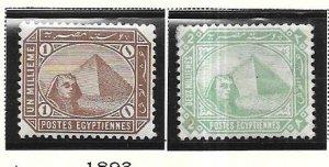 Egypt #43-44  (MH) CV $6.50