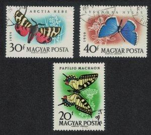 Hungary Butterflies and Moths 3v 1959 Canc SG#1612-1614 MI#1633-1635A