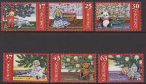 GUERNSEY SG810/5 1998 150TH ANNIVERSARY OF THE  CHRISTMAS TREE MNH
