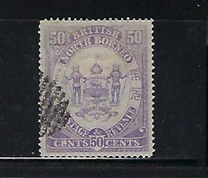NORTH BORNEO SCOTT #32 1886 50 CENTS (VIOLET) - USED