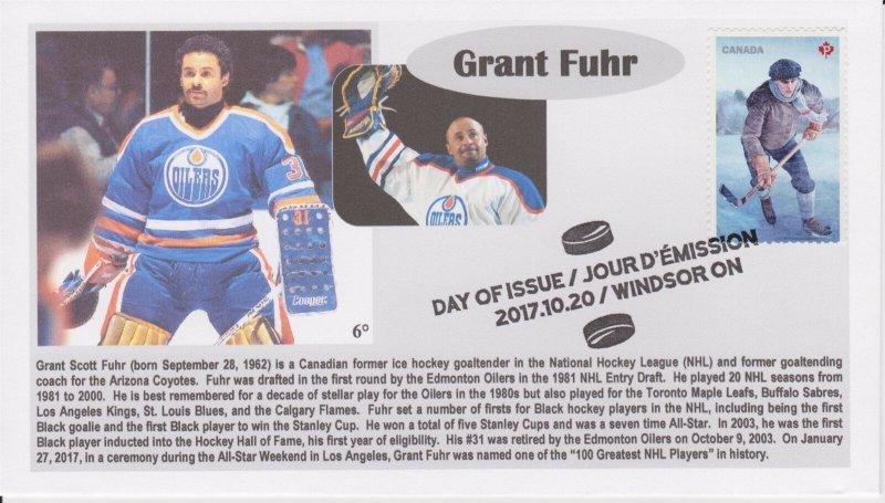 6° Cachets 5252 NHL History Hockey Canadian Grant Fuhr Edmonton Oilers Goalie