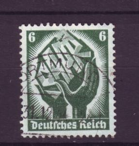 J4336 JLstamps 1934 nazi germany used #444 saar