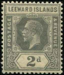 Leeward Islands SC# 68 George V 2d Die II wmk4 MLH