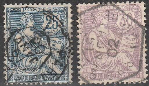 France #136-7 F-VF Used CV $16.75 (A15764)