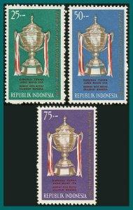 Indonesia 1964 Thomas Cup, Badminton, MNH #645-647,SG1016-SG1018