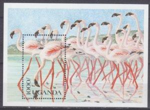 1990 Uganda 821/B120 Birds / Flamingos 7,50 €