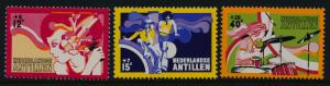 Netherlands Antilles B128-30 MNH Music, Girl Combing Hair