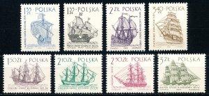 Poland #1206-1213  Set of 8 MNH