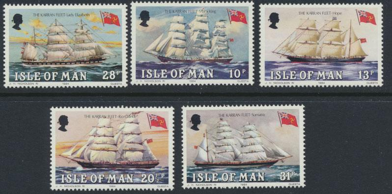 Isle of Man - SG 259-263  SC# 254-258  MUH  Kareen Fleet Ships