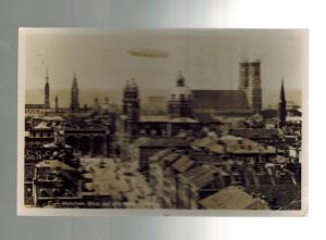 1939 Germany Hindenburg Zeppelin real picture postcard Cover LZ 129