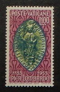 Vatican City 173. 1953 Peter Lombard, NH