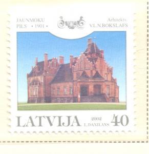 Latvia Sc 558 2002 Jaunmoku Palace stamp  mint NH