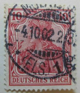 A6P43F24 Germany 1902 Unwmk 10pf used