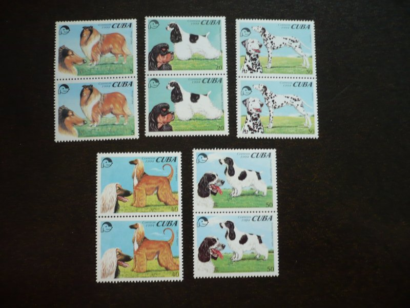 Stamps - Cuba - Scott# 3593-3597 - MNH Set of 5 stamps in Pairs