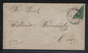 VENEZUELA   (PP2604B)  EARLY BISECT COVER SC 77A TO CORO    RARE