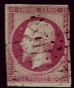 France SC#19 Used Fine SCV$82.50...Worth a Close look!!