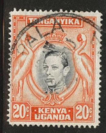 Kenya Uganda and Tanganyika KUT Scott 74d Used perf 14x14
