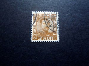 Iceland #109. 3 aur, Christian X, 1920, Fresh stamp, Scarce