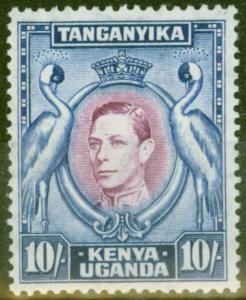 KUT 1944 10s Purple & Blue SG149b P.13.25 x 13.75 V.F Very Lightly Mtd Mint
