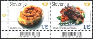 Slovenia. 2017. 1277-78. Food, gastronomy, pastries, fries. MNH.
