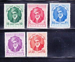 Zanzibar 244-248 Set MH Sultan Khalifa bin Harub