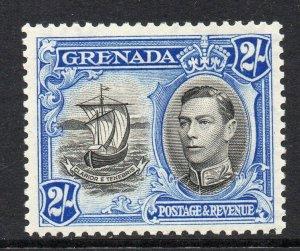 Grenada 1938 KGVI 2/- perf 12½ SG 161 mint CV £45