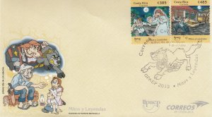 COSTA RICA UPAEP MYTHS and LEGENDS Sc 652 FDC 2012
