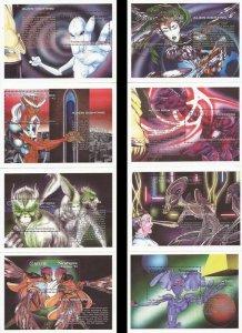 Nicaragua - 1994 Reported Alien Sightings - 16 Sheet Set #2020-7 CV $150