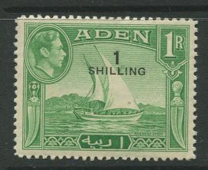 STAMP STATION PERTH Aden #43 KGVI Definitive Overprint Issue 1951 MNH CV$2.75.