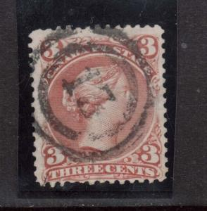 Canada #25 Used With Ideal 2 Ring 13 Cancel