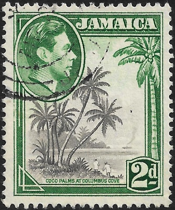 Jamaica 1951 Scott # 119b Used. Free Shipping For All Additional Items.