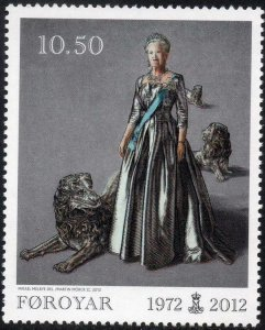 Faroe Islands 2012 #572 MNH. Queen, joint with Denmark/Greenland