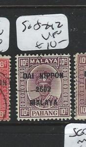 MALAYA JAPANESE OCCUPATION PAHANG (PP0803B) DN 10C SG S242  VFU