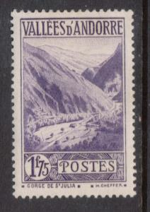 French Andorra #54 VF Mint