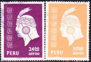 Peru #C486-C489  Used