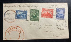 1929 Port Prince Haiti First Flight Airmail Cover FFC To Havana Spanish Antilels