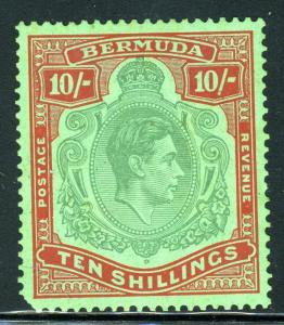 BERMUDA SCOTT#126a   MINT HINGED SCOTT VALUE $140.00