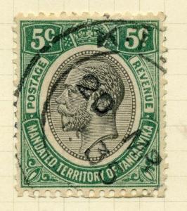 TANGANYIKA;  1927 early  GV issue fine used 5c. value, Shade