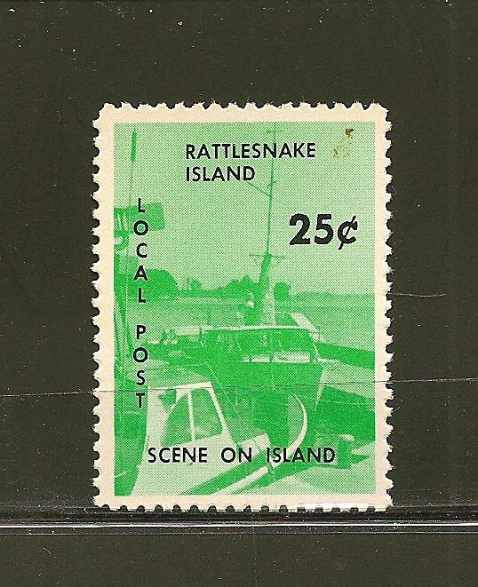 Rattlesnake Island Local Post 25Cents Stamp MNH