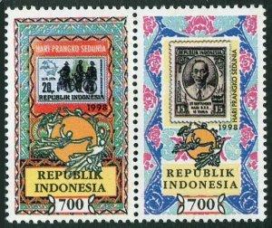 Indonesia 1791-1792a,MNH. World Stamp Day,1998.UPU emblem.